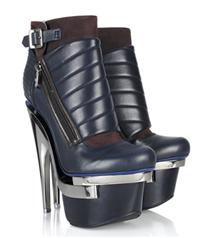 Versace metal topuklu deri botları