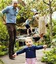 Kate Middleton ve Prens William'ın Çocukları İle Chelsea Flower Show Kareleri