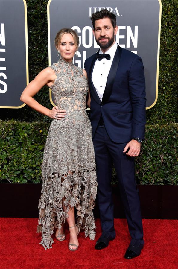 Emily Blunt- John Krasinski - 2019 Altın Küre Ödüllerine Damga Vuran Çiftler