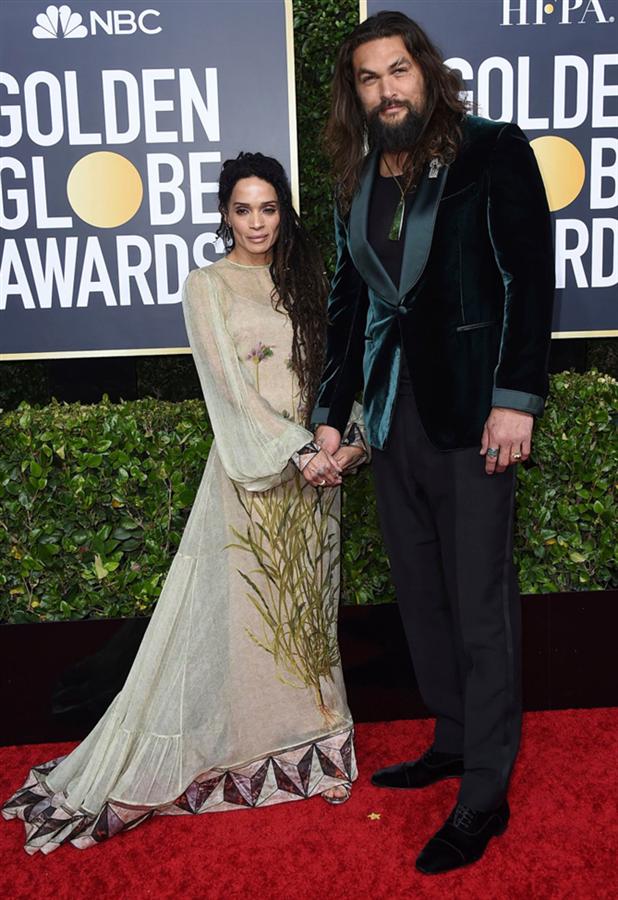 Lisa Bonet ve Jason Momoa - 2020 Altın Küre Ödülleri'nin Kalp Çalan Uyumlarıyla Kırmızı Halı Çiftleri