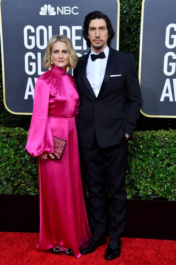Adam Driver ve Joanne Tucker - 2020 Altın Küre Ödülleri'nin Kalp Çalan Uyumlarıyla Kırmızı Halı Çiftleri