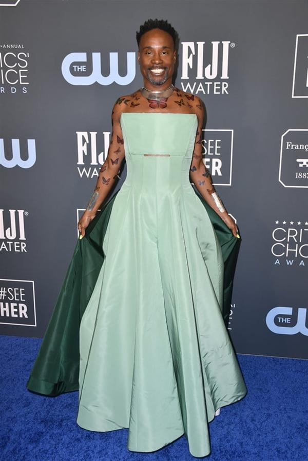 Billy Porter - 2020 Critics' Choice Ödülleri'nin Öne Çıkan Kırmızı Halı Elbiseleri