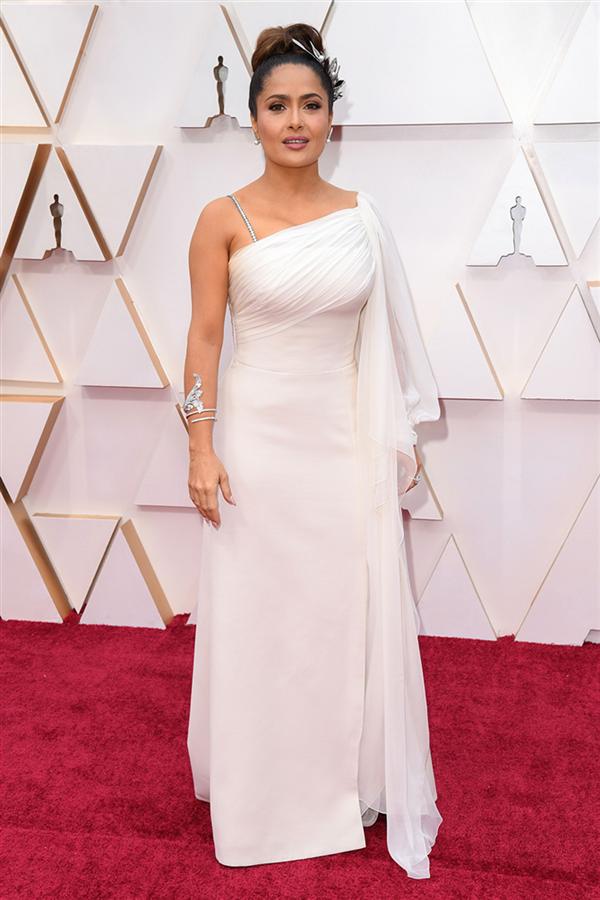 Salma Hayek - 2020 Oscar Ödül Töreni'nin En İyi Kırmızı Halı Görünümleri