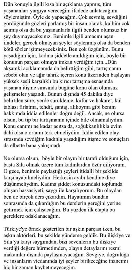 Ahmet Kural Sıla'dan Bu Cümlelerle Özür Diledi