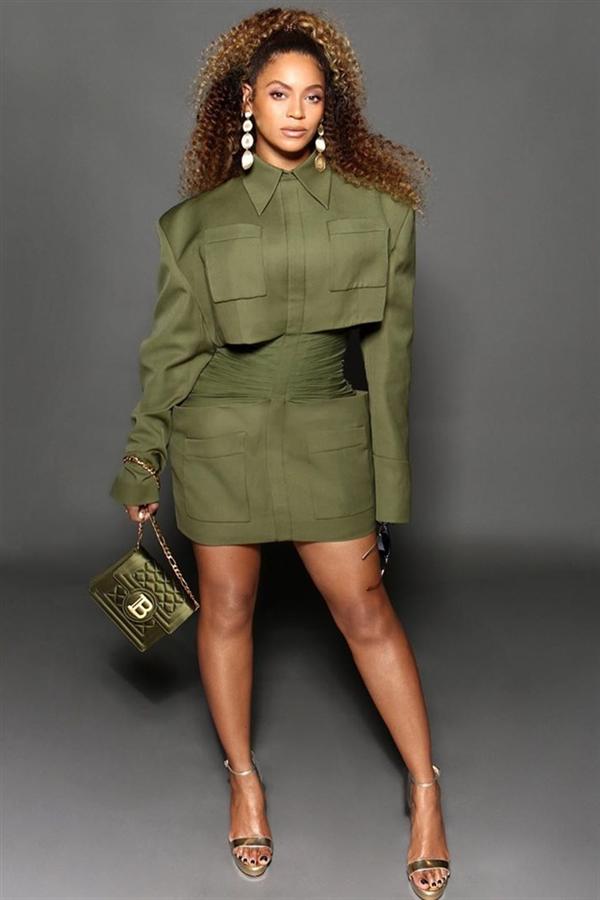 Beyonce'dan Cazibesi Yüksek Yeşil Kombin İlhamı