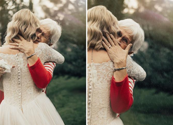 Büyükannesinin Gelinliğini Giyen Torun