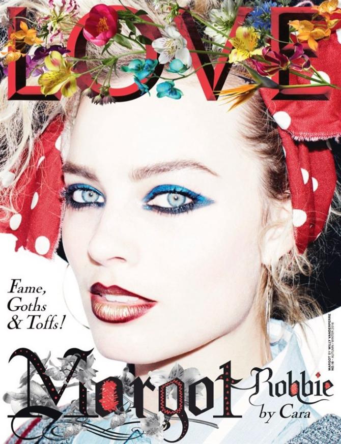 Cara Delevingne ve Margot Robbie LOVE Kapağında - Cara Delevingne ve Margot Robbie LOVE Kapağında