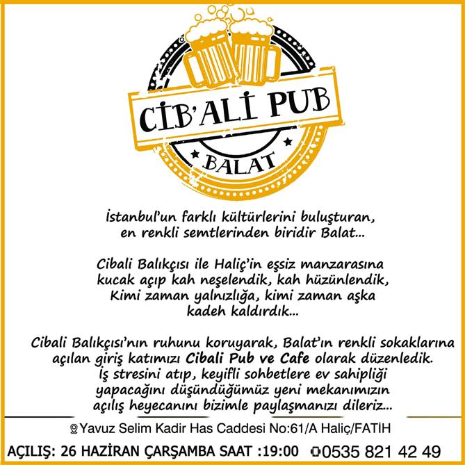 Cibali Balıkçısına Yeni Düzenleme: Cib'Ali Pub Balat - Cibali Balıkçısı'na Yeni Düzenleme: Cib'Ali Pub Balat