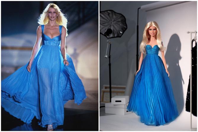 Claudia Schiffer'ın İkonik İki Görünümü Barbie Bebeklere Dönüştü - Claudia Schiffer'ın İkonik İki Görünümü Barbie Bebeklere Dönüştü