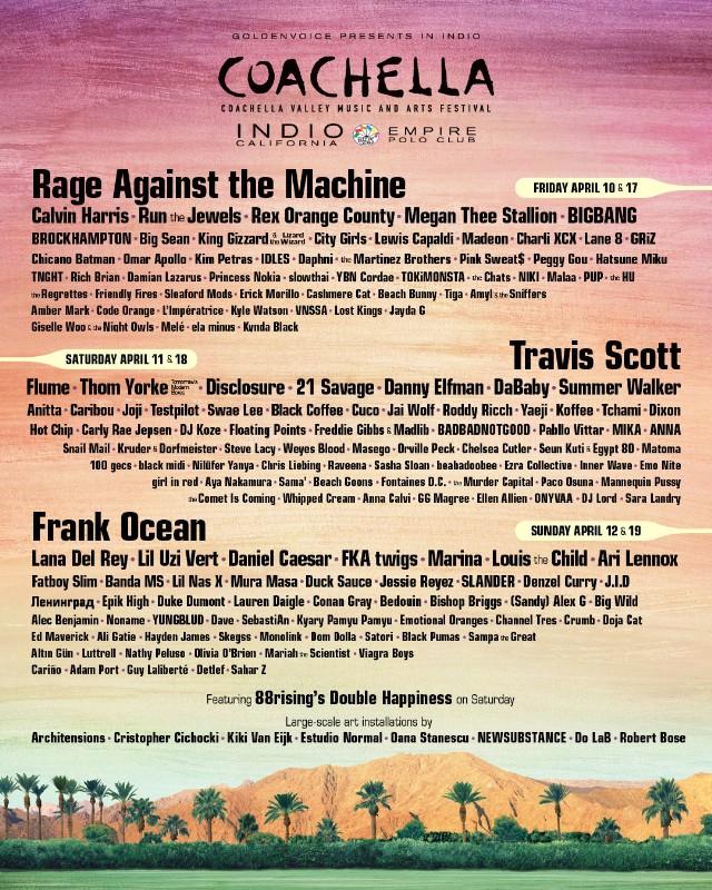 Coachella 2020'de Sahne Alacak İsimler Açıklandı!