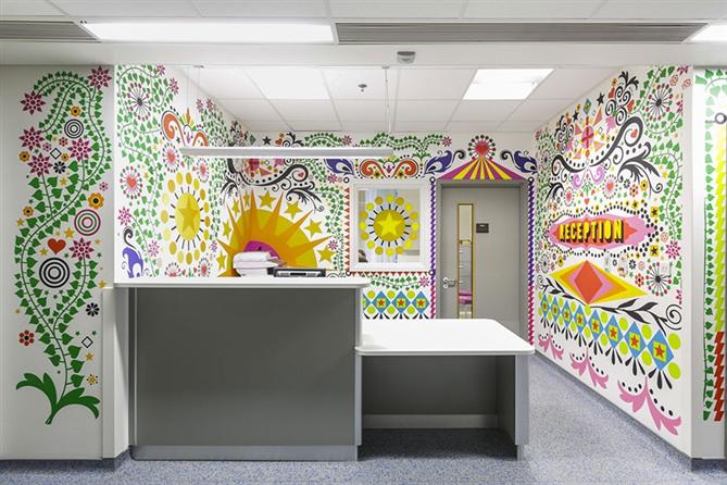 Çocuklar için hastane duvarları rengarenk boyandı - Çocuklar için hastane duvarları rengarenk boyandı