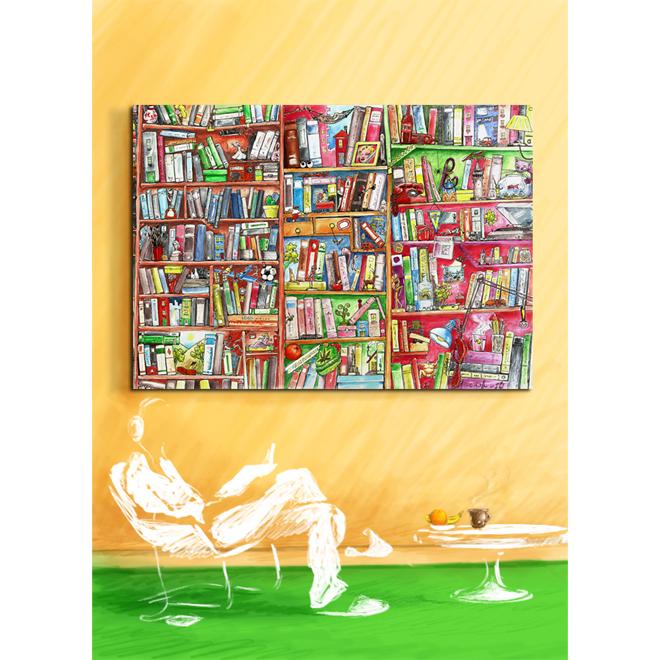 wall-art-big-library - Dogo Skinz Markafoni`de büyük indirimle