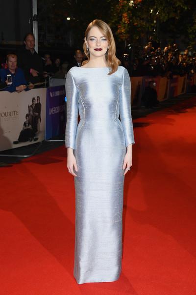 Emma Stone'un Metalik Gala Makyajı