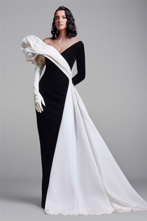 Eski Hollywood Işıltısı: Georges Chakra Couture Sonbahar/Kış 2021