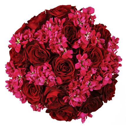 kirmizi-gullu-buket - Gelin çiçeği modelleri