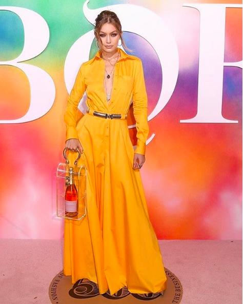 Gigi Hadid BOF 500 Galasında Tarzıyla Dikkatleri Çekti