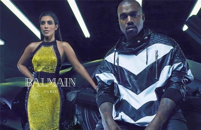 Kanye West ve Kim Kardashian Balmain`in yüzü - Kanye West ve Kim Kardashian Balmain`in yüzü