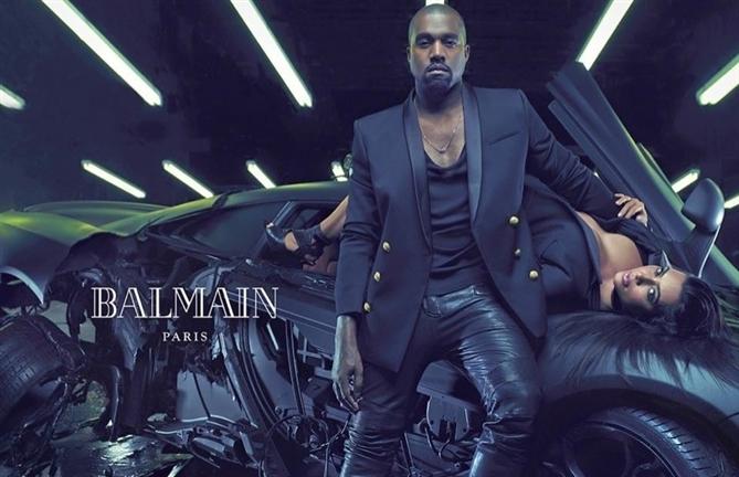 Kanye West ve Kim Kardashian Balmain`in yüzü - Kanye West ve Kim Kardashian Balmain`in yüzü