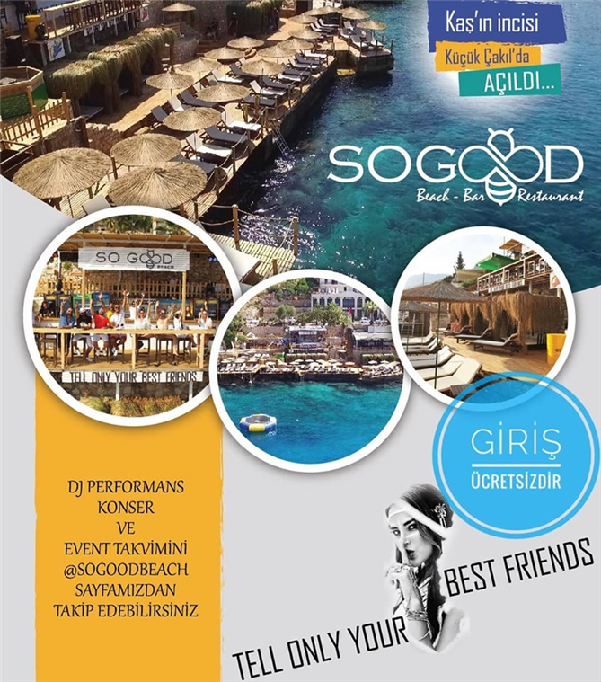 Kaş'ın Yeni İncisi So Good Beach! - Kaş'ın Yeni İncisi So Good Beach!