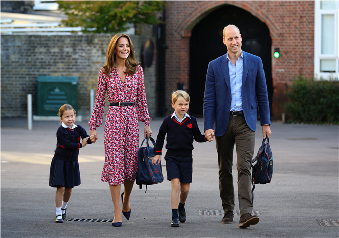 Kate Middleton Tüm Zarafetiyle Prenses Charlotte'ı Okula Götürdü