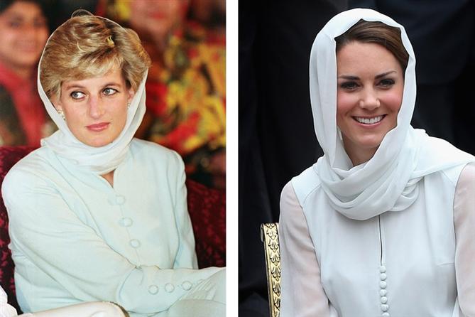 Kate Middleton ve Lady Diana Stillerinin Kesişim Anları