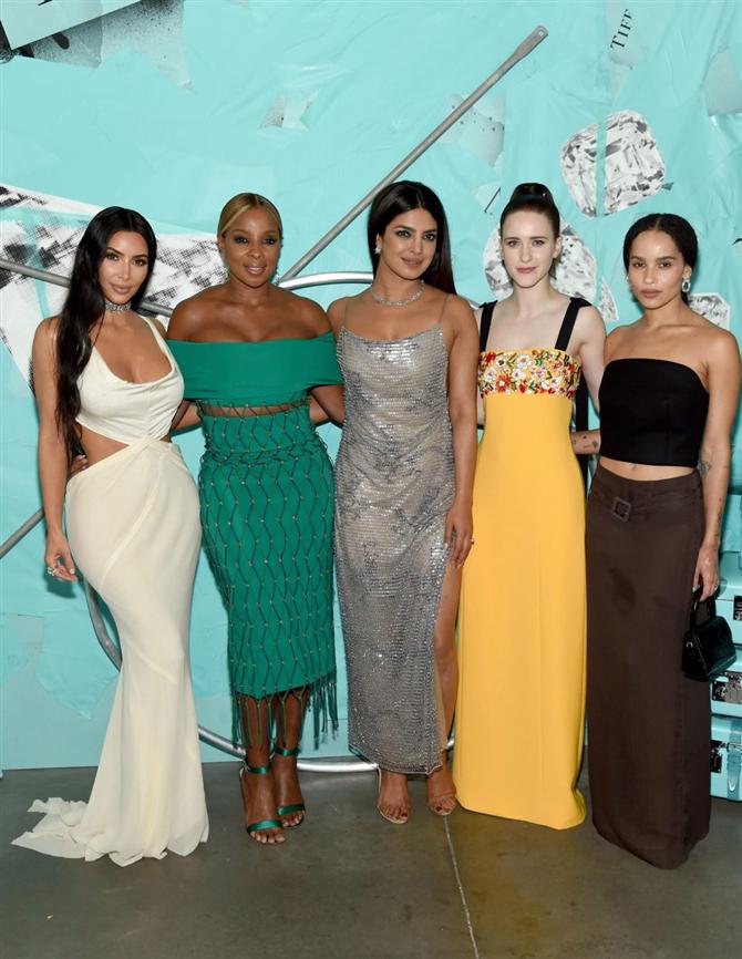 Kim Kardashian Tiffany Partisine Damga Vurdu