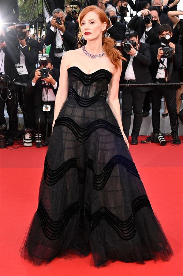 Jessica Chastain - Kırmızı Halı: 2021 Cannes Film Festivali