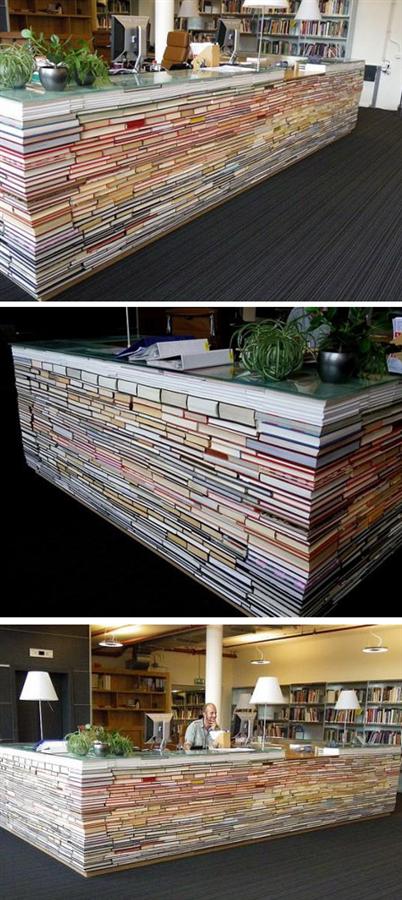 Kitaplardan Mobilyaya Dönüşen 10 Farklı Tasarım - Kitaplardan Mobilyaya Dönüşen 10 Farklı Tasarım