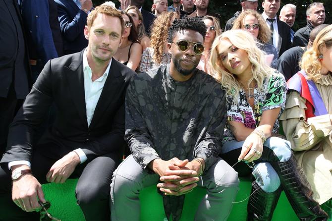 Alexander Skarsgard-Chadwick Boseman -Rita Ora - Louis Vuitton Defilesinin Ön Sıra Misafirleri