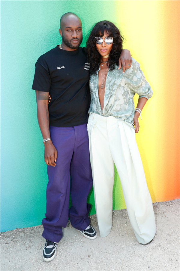 Virgil Abloh ve Naomi Campbell