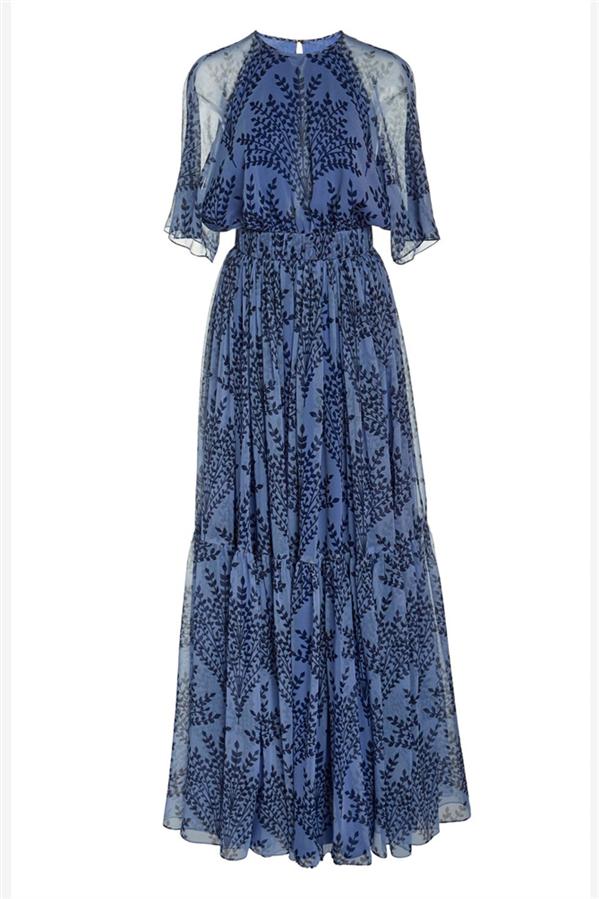 Desenli Romantik Elbise
