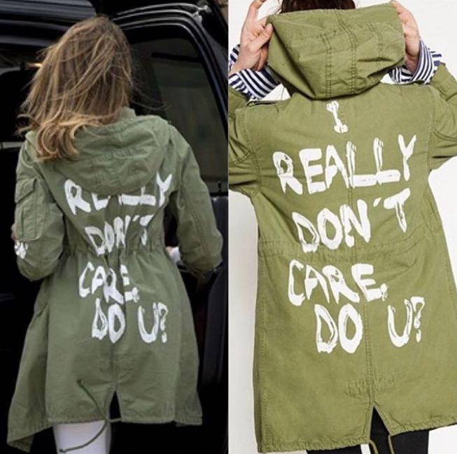 Melania Trump'ın Olay Ceketi