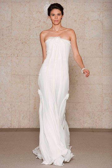 strapless-gelinlik - Oscar de la Renta İlkbahar 2011 Gelinlik Koleksiyonu