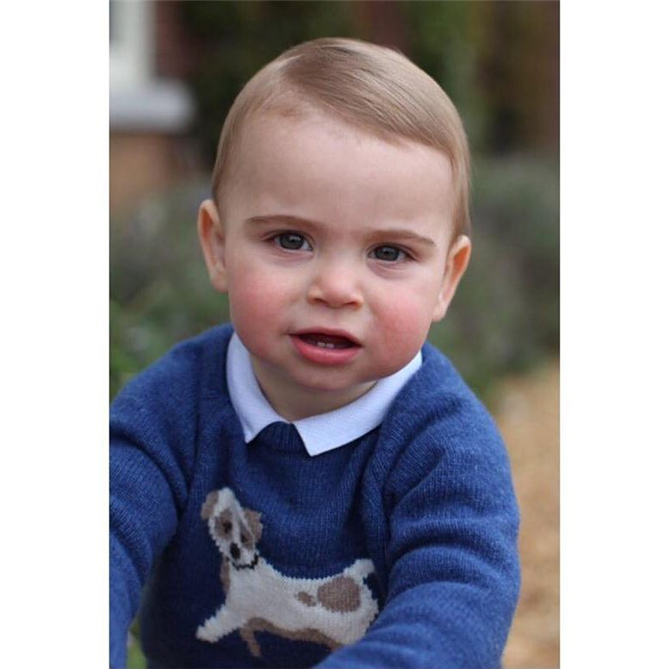 Prens Louis'in Sevimlilik Dozu Yüksek 1 Yaş Fotoğrafları
