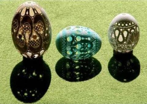 sekilli-yumurta-kabuklari - Yumurta kabuğundan sanat eseri