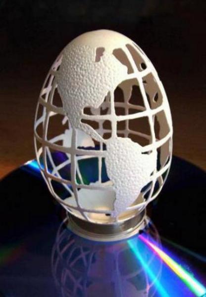 yumurta-kabugu - Yumurta kabuğundan sanat eseri