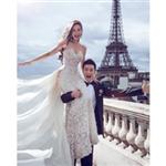 Çinli Oyuncu Angelababy`nin 5 Ayda Tamamlanan Dior Gelinliği