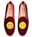 Edie Parker`dan emoji baskılı ayakkabı ve çantalar