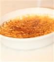 Fesleğen ve beyaz çikolatalı brûlée
