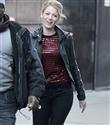 Gossip Girl oyuncuları New York sokaklarında
