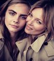 Kate Moss ve Cara Delevingne Burberry reklamlarında