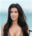 Kim Kardashian plajda