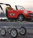 Mini Cooper bebek arabası
